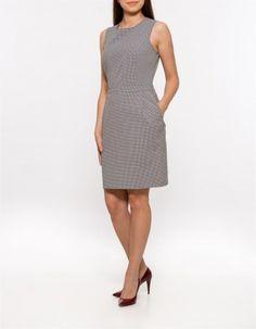 Rochie Jacquard pepit Dresses For Work, Fashion, Moda, Fashion Styles, Fashion Illustrations