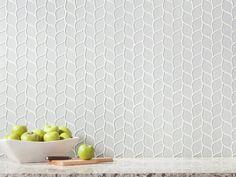 Winter Cloud Leaf Polished Glass Mosaic - 11 x 12 - 100248301 Kitchen Chairs, Kitchen Tiles, Kitchen Furniture, Beige Kitchen, Glass Tile Backsplash, Backsplash Ideas, Floor Decor, Mosaic Glass, Mosaic Tiles