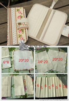 Essas carteiras são muito fofas também por conta do tecido empregado – linho estampado – que dá um show de elegância nas peças! Na página do tutorial vocês encontram pouca…