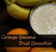 Orange Banana Fruit Smoothie