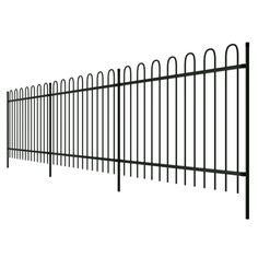Vidaxl Palissade ornamentale de sécurité en acier noir avec des têtes cerceau 150 cm - pas cher Achat / Vente Clôture en fer - RueDuCommerce