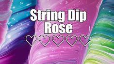 226 - String Dip Rose - Peacock Unicorn Colours