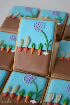 Vegetable Garden Cookies for Spring | Make Me Cake Me
