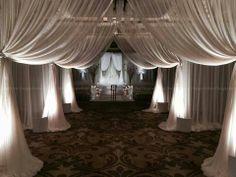 Wedding Venues WHITE Sheer Wedding Backdrop draping Voile Panel 10 ft x 40 ft Wedding Draping, Wedding Stage, Wedding Backdrops, Wedding Tables, Church Wedding, Wedding Ceremony, Voile Panels, Pipe And Drape, Yosemite Wedding