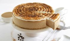 This coffeehouse-inspired cheesecake is light, creamy and not overly sweet. You won't even have to turn on your oven, because it's no-bake! The instant espresso powder in this recipe can be found at kitchen specialty shops and online. It gives the cheesecake a more pronounced coffee flavor, but if youGet the Recipe