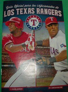 Spanish Schedule Program 2013 Texas Rangers Baseball Espanol Tejas Programa