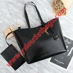 58025f24d0 Saint Laurent Shopping Bag In Patent Leather Black Shopping Bag