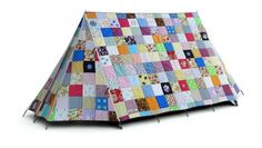 Another tent from FieldCandy, this time in patchwork. Lots of other cool ones on site, too bad they are expensive.