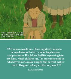 Studio Ghibli Films, Directors and Dates part 8 Studio Ghibli Quotes, Studio Ghibli Art, Studio Ghibli Movies, Geeks, When Marnie Was There, Howls Moving Castle, My Neighbor Totoro, Hayao Miyazaki, Shows
