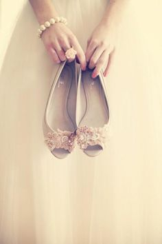 Wedding Shoes - Satin Flats