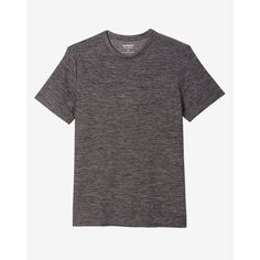 Express Space Dye Performance Crew Neck Tee ($30) ❤ liked on Polyvore featuring men's fashion, men's clothing, men's shirts, men's t-shirts, grey, mens stretch t shirts, mens gray dress shirt, mens stretch shirts, men's moisture wicking shirts and express mens t shirts