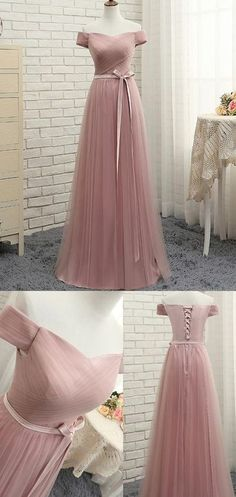 Ruffles Evening Dresses, Pink A-line/Princess Evening Dresses, Long Pink Evening Dresses, Beautiful Prom Dress Off-the-shoulder Tulle Long Prom Dress/Evening Dress Off Shoulder Evening Dress, Pink Evening Dress, Cheap Evening Dresses, Cheap Dresses, Pink Dress, Pink Tulle, Barbie Dress, Navy Dress, Pink Lace