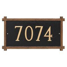 Montague Metal Products One Line Mission Oak Address Sign Plaque Finish: Antique Copper/Copper