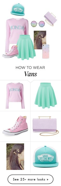 """Busy Pastel day"" by galaxygurl411 on Polyvore featuring Alberta Ferretti, Sunday Somewhere, Converse, Vans, Sonix and M2Malletier"