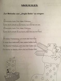 Nikolauslied - Kindergarten - - New Ideas Kindergarten Portfolio, Kindergarten Songs, Diy Crafts To Do, Kids Songs, Happy Kids, Kids Christmas, Diy For Kids, Teaching, Education
