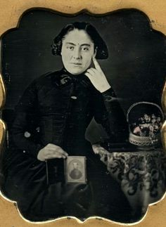 Appears to be a mourning daguerreotype