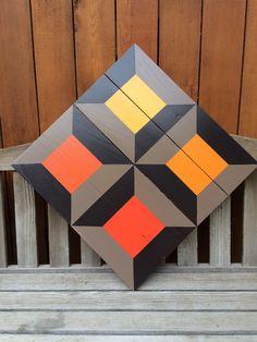 Spool pattern barn quilt