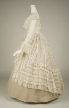 My Angelic Daydream — lookingbackatfashionhistory: • Dress. Date:... - Late 1860's French cotton summer afternoon frock