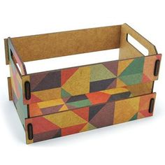 Caixote De Feira Porta Treco Triângulos