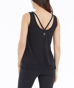 This Black Cutout Allison Tank is perfect! #zulilyfinds