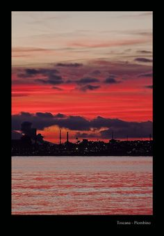Fire in the sky: sunset over Piombino Tuscany
