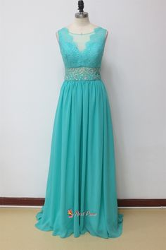 NextProm.com Offers High Quality Aqua Blue Prom Dresses With Lace Cap Sleeves,Aqua Blue Prom Dresses 2015,Priced At Only USD USD $172.00 (Free Shipping)