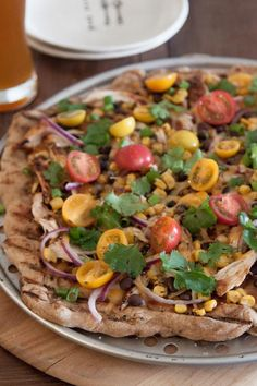 Grilled BBQ Chicken Pizza | via What's Gaby Cooking