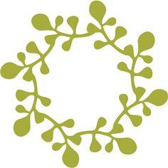 Silhouette Design Store - View Design #14465: leaf wreath