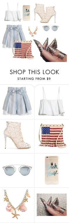 """""""clear skys"""" by grapethsgreat ❤ liked on Polyvore featuring Zimmermann, Dolce&Gabbana, TWIG & ARROW and Christian Dior"""