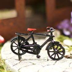 Dollhouse Miniature Vintage Bicycle - Miniatures - View All - Dollhouse Miniatures - Doll Making Supplies - Craft Supplies
