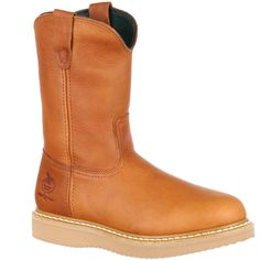 Wedge Work Boots, Pull On Work Boots, Steel Toe Work Boots, Georgia Boots, Wellington Boot, Goodyear Welt, Leather Cover, Kid Shoes, Ugg Boots