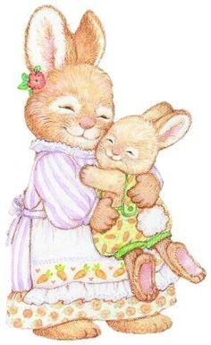 Bunnies by Ana Cecilia Chaverri Bunny Drawing, Bunny Art, Cute Bunny, Lapin Art, Rabbit Art, Vintage Easter, Cute Illustration, Easter Crafts, Cute Cartoon