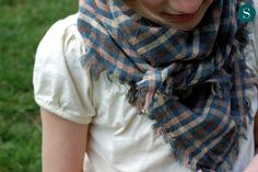 DIY cotton scarf via 3191-no sewing, just cut and pick out threads