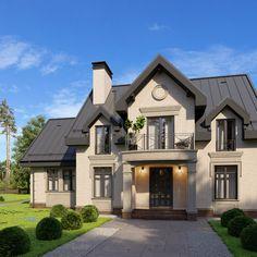 Flat House Design, 2 Storey House Design, Dream Home Design, Log Home Interiors, Sims House Plans, Ranch Remodel, Dream House Exterior, Log Homes, Home Fashion