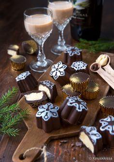 Christmas Inspiration, Food Inspiration, Sorbet Ice Cream, Caramel, Christmas Feeling, Juice Drinks, Baileys, Irish Cream, Truffles