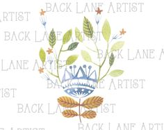 Flower Watercolor Drawing Clipart Lineart Illustration Instant Download PNG JPG Digi Line Art Image Drawing Ld82 by BackLaneArtist on Etsy
