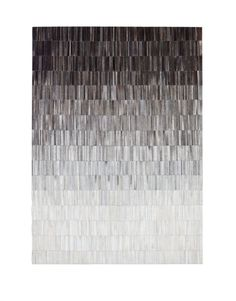 "Fade Grey Leather 5'7""X7'9"" Area Rug by Linie Design"