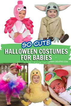 Looking for the cutest Halloween costumes for babies? Here are 10 adorable baby Halloween costumes that will have your friends loving your little one on social media! Keep your baby's first Halloween low-key and low-stress. The most important thing is to make memories and capture them in pictures. Baby Duck Costume, Baby Skeleton Costume, Duck Costumes, Flamingo Costume, Shark Costumes, Skeleton Halloween Costume, Baby Pumpkin Halloween Costume, Handmade Halloween Costumes, Spooky Costumes