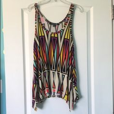Multicolored tank top forever 21 Multicolored tank top/ very comfortable No trades ✨ Smoke free home Forever 21 Tops Tank Tops