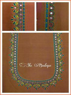 B Hand Embroidery Design Patterns, Hand Work Embroidery, Machine Embroidery Designs, Mirror Work Blouse Design, Kutch Work Designs, Hand Work Design, Simple Blouse Designs, Colors, Machine Embroidery