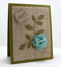 stamp on fabric, I want to try this with some of the coffee bag burlap.