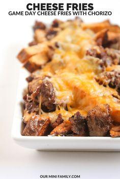 Perfect Super Bowl Party food--cheesy chorizo fries!
