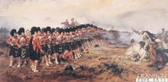 The Thin Red Line by Robert Gibb. There is no retreat from here, men! said General Sir Colin Campbell (who at that moment may have said to have commanded the regiment in person) as he cantered along the front of the 93rd You must die where you stand To which some of the Highlanders replied cheerily Ay Ay, Sir Colin if needs be well do that.