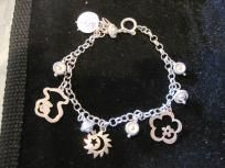 STERLING SILVER BRACELET WITH CHARMS. N3. FREE SHIPPING!!