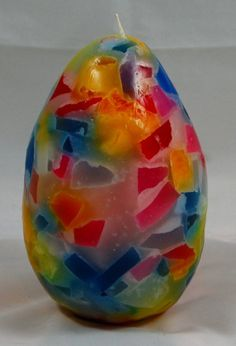 CANDELA UOVO CANDY  candy Egg candle by elacandela70 on Etsy