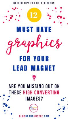 A great lead magnet needs fabulous lead magnet graphics in order to get it seen. In this post I share the 12 lead magnet graphics plus examples and tips so you can market your genius lead magnet. Email Marketing Strategy, Content Marketing, Online Marketing, Social Media Marketing, Business Marketing, Affiliate Marketing, Sales Strategy, Facebook Marketing, Marketing Ideas