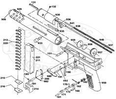 TEC-9 Parts schematic