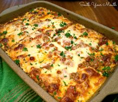 Classic Lasagna - An easy recipe for classic lasagna using prepared sauce and traditional ingredients