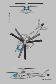 Kamov UBK concept. Drawing: K. Panitsidis