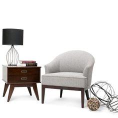 Louise Linen Look Tub Chair